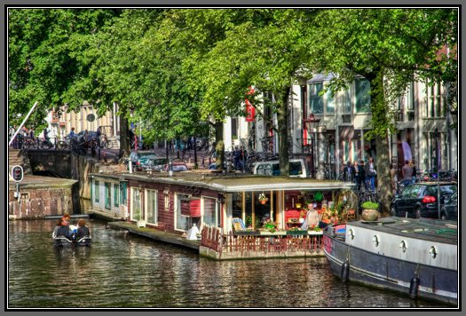 Amsterdam canal houseboat fine art photo for Houseboat amsterdam