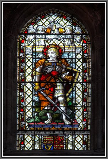 Stained Glass St George and Dragon fine art photo